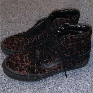 Vans Shoes - Vans Black Leopard Print Sk8-Hi's